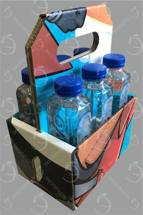 самосборный дисплей из картона под бутылки